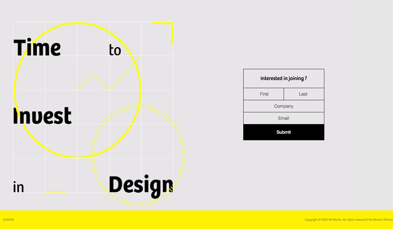 site web invest in design